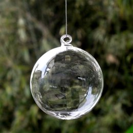 Globe Pack Australia - Diameter=6cm 16pcs pack Christmas Ball Transparent Glass Globe Hotel School Window Wedding Decoration Glass Ball Christmas Day