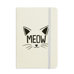 notepad cats Canada - Mewing Cat Head Quote DIY Design Notebook Fabric Hard Cover Classic Journal Diary A5
