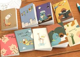 $enCountryForm.capitalKeyWord NZ - 1 Pcs Mini Cute Kawaii Notebook Cartoon Animal Notepads Planner For Student Korean Stationery School Supplies Color Random