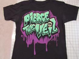 $enCountryForm.capitalKeyWord NZ - PIERCE THE VEIL Dripping Paint T-SHIRT Mens L Skull Big Logo Green Purple PTV Men Women Unisex Fashion tshirt Free Shipping