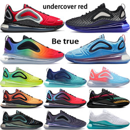 Discount gold designer sneakers - New 720OG Running Shoes pixel black blue undercover red be true iridescent mesh Sunrise pink sea Womens Mens Designer Sn