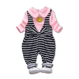 Cute Outfits For Spring Australia - good quality New Baby girl 2pcs clothing set for spring autumn infant shirt+bib pants Outfit suit Toddler fashion clothes