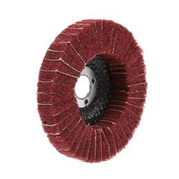 "$enCountryForm.capitalKeyWord Australia - remel accessories DRELD 1Pc Dremel Accessories Red 100mm 4\"" Nylon Fiber Flap Polishing Grinding Wheel Disc for Angle Grinder Polishing T..."