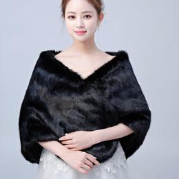 $enCountryForm.capitalKeyWord Australia - Simple Winter Bridal Wraps Black Wedding Bolero Faux Fur Shawl For Wedding Evening Prom Party Cheap Jacket Coat Free Shipping