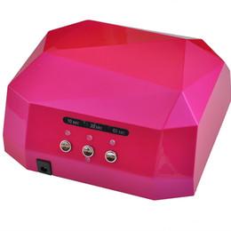 $enCountryForm.capitalKeyWord Australia - 2019 Newest 36w Gel Nail Machine Ccfl Uv Led Lamp For Drying Nail Dryer Gel Nail Curing Polish Light 220-240v Diamond Pink T190625