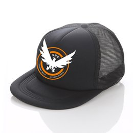 Tom balls online shopping - Hot Sale Game Cosplay Baseball Cap The Division Tom Clancy s Snapback Hats Cool SHD Eagle Wing Out Trucker Hat YF018
