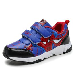 kids black school shoes UK - Spring Autumn Toddler Kids Spiderman Shoes Boys Pu Leather Comfy Sport Children's Shoes Sneakers School Student Shoes For Boys Y19051504