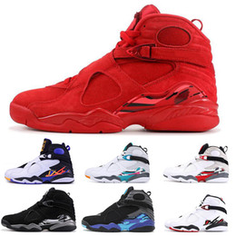 mens beach shoes UK - New Arrival 8 8s Basketball Shoes For Men Women VALENTINES DAY AQUA CHROME COUNTDOWN PACK SOUTH BEACH Mens Trainers Designer Sports Sneakers