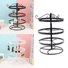 Wholesale Fashion Durable Portable Round Shape Earring Display Stand Earrings Storage Rack New Fashion Jewelry Boxes