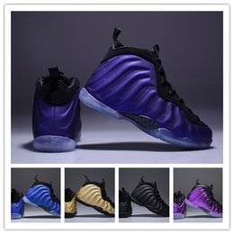 Shining Patent Leather Shoes NZ - (with box) kids Basketball Shoes Legion Air Eggplant Penny Hardaway Children Shine Island Green University sport trainer Boys youth Sneaker