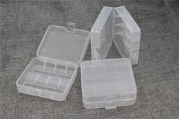 Battery Storage Organizer Australia - translucent plastic 26650 Battery Case Organizer for 2PCS 26650 Li-ion batteries Plastic Case Holder 26650 Battery Storage Box Container