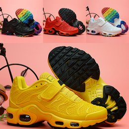ece91e96d 2019 New Children Trainers TN Kids Shoes Drop Plastic Running Shoes TN Plus  Mercurial Cushion kid Sneakers Sports With Shoesbox