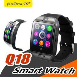$enCountryForm.capitalKeyWord Australia - Smart Watch Q18 Digital Wrist with Men Bluetooth Electronics SIM Card Sport Smartwatch Camera For iPhone Android Phone PK DZ09 U8 Z60