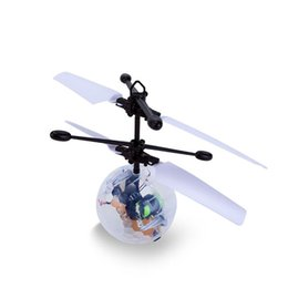 Ems Kid Toys NZ - Kids' Gift RC Flying Ball RC Infrared Induction Helicopter Ball Built-in Shinning LED Lighting for Kids Teenagers Colorful Flying Toys EMS