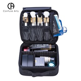 Gold Boxing Trunks Australia - Multi function cosmetic packing case large capacity storage clapboard makeup box make up portable waterproof travel bag Y181122