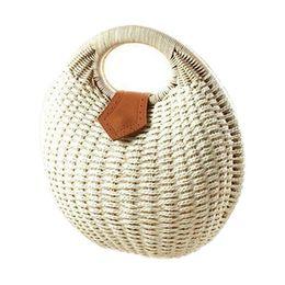 $enCountryForm.capitalKeyWord Australia - designer handbags Snail's Nest Tote Handbag Summer Beach Bags Woman Straw Bags Women's Handbag Rattan Bag