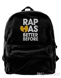 teen backpacks Canada - Wu Tang Clan Canvas Shoulder Backpack Funny Backpack For Men & Women Teens College Travel Daypack Black