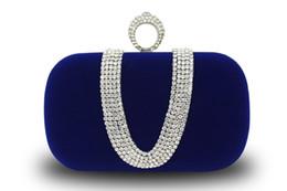 $enCountryForm.capitalKeyWord UK - Designer-Top selling Fashion Female Diamond U Shape Diamond Ring Velvet Evening Bag Luxury Finger Clutch Purse Wedding Party Bag With Chain