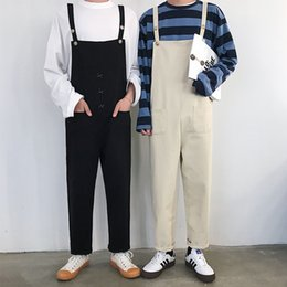 high quality jumpsuits Australia - Super Handsome Couple Overalls High Quality Korean Ankle-Lenght Pants Women and Men Casual Loose Jumpsuits Size S-3XL