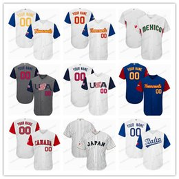 Discount baseball jerseys orange - 2017 World Baseball Classic Daniel Murphy Paul Goldschmidt Buster Posey Giancarlo Stanton Any Name Number stitched Mens
