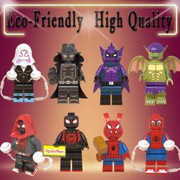 Spiderman Block Figures Australia - figures Marvel mini Action Figure Super Heroes Spider-Man Noir Gwen Ham Spiderman Prowler Building Blocks Toys for kids WM6052