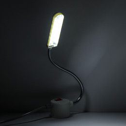 sewing lights 2019 - 10 LED Magnetic Work Light Clothes Portable Sewing Machine Gooseneck For Lighting Bulbs Energy Saving Mounting Base chea