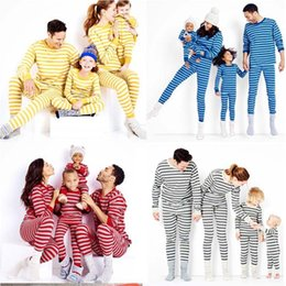 $enCountryForm.capitalKeyWord Australia - Christmas Family Outfits Dressed Pyjamas Mama Papa Baby Baby Young Girls Kids Pyjamas Sets Stripe Nightdresses Clothes Sets