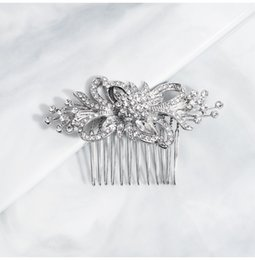 $enCountryForm.capitalKeyWord Australia - Newest Silver Flower Wedding Hair Comb Bridal Hair Pins Jewelry Accessories Hair Clips for Women Ladies JCH233