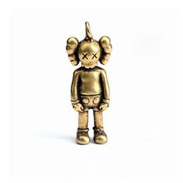 $enCountryForm.capitalKeyWord UK - Tide Brand Doll Keychain Gift Cute Car Key Chain for Women Delicate Copper Key Ring for Men