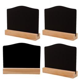 Writing decorations online shopping - Creative Two Sided Small Blackboard Base Writing Boards Practical Arts And Crafts Wooden Hotel Bar Home Decoration Convenient hxC1