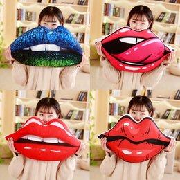 big lip gifts Australia - Creative Sexy Lip Big Plush Pillow Cushion Large Red Lips Soft PP Cotton Stuffed Toys Birthday Gift