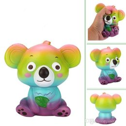 Gadgets Prices Australia - low price MOQ Squishy Slow Rising 12CM Big Lovely Colorful Koala Stress Relief Toys Squeeze Funny Gadget Kids Gift