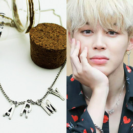 Necklaces Pendants Australia - Kpop ARMY BTS Bangtan Boys Jimin THE Same necklace Titanium Steel Silver Pendant Korean Style Jewelry Clavicle Chain Accessories