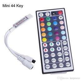 44 Key Mini Controller Australia - DC 12V 24 44 Keys IR Remote RGB LED Mini Controller Dimmer for LED Strip 5050 3528 RGB LED SMD Strip Lights 7 colour module Free Shipping