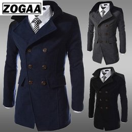 $enCountryForm.capitalKeyWord Australia - ZOGAA Fashion 2019 Brand Winter Long Trench Coat Men Good Quality Double Breasted Wool Blend Overcoat for Men Size