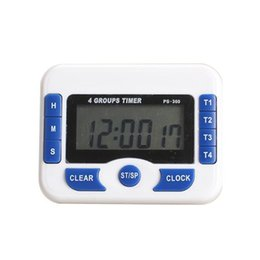 digital kitchen count down Australia - 3-Channel Count Down Timer Digital Display Clock Timing Device Precise Blue Other Kitchen Dining Bar