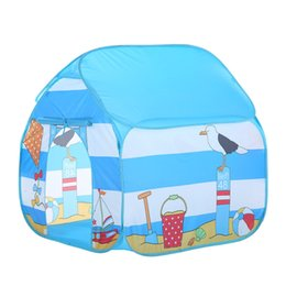 seaside toys Australia - Folding Children Kids Play Tent In Outdoor Toy House for Boys Girls Seaside New Arrival Dropshipping
