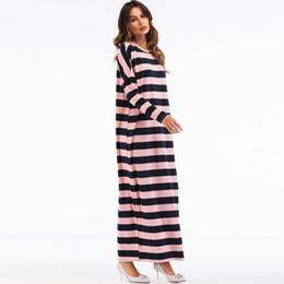 $enCountryForm.capitalKeyWord UK - 2019 Muslim Clothes L- 2XL Women Muslim Striped Loose Long Sleeve Arab Dress Islam Jilbab Pretty Dress Lover Gift Drop #0426