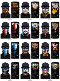 skull print face mask Australia - Sports Headband Cycling Riding Outdoor Windproof Face Mask - 3D Printing Cool Clown Joker Skull Ghost Magic Scarf Bandanas Masks