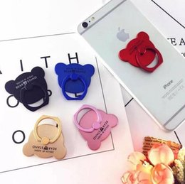 Wholesale Hot Finger Ring Button Bear Universal Multifunctional Finger Ring Button Metal Finger Ring Button Paste Mobile Phone Bracket