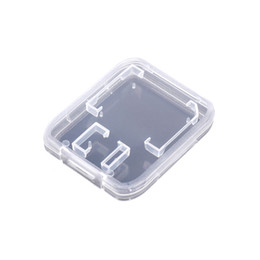 $enCountryForm.capitalKeyWord UK - Memory Card Accessories SD Memory Card Case SDHC Holder Protector Transparent Box Plastic Storage Transparent Portable Mini Case free ship