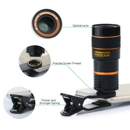 Telescope 8x NZ - 8X Zoom Telescope Lens Telephone Lens unniversal Optical Camera Telephoto phone len with clip for Iphone Samsung LG HTC Sony