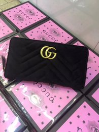 DiamonD party stranDs online shopping - Women s Velour Wallet Brand Leather Wallet Long Wallets Card Holders Famous For Men Women Purse Clutch Bags G3123 GUCCI