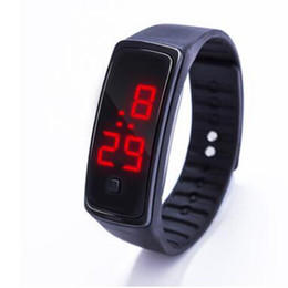 silicone kids watch bracelet Australia - 2018 Fashion Silicone LED Digital Watches Bracelet Wristwatch For Men Ladies Kids Clock Womens Digital Wrist Watch Sport