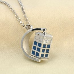 police chain NZ - New Television Doctor Who FK01 Tardis Police Box Vintage Blue Chain Necklaces Pendants Men Women Jewellery Gifts Free Shipping