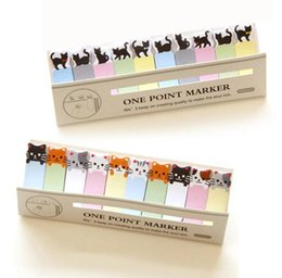 Sticky write note online shopping - Kitchen Writing Cute Funny Joy Cat Style Sticker Post It Bookmark Memo Marker Point Flags Sticky Notes label Decoration W5