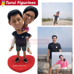 $enCountryForm.capitalKeyWord Australia - The groom carries the bride on his back figurines custom bobblehead for cake topper wedding gifts decorations dolls