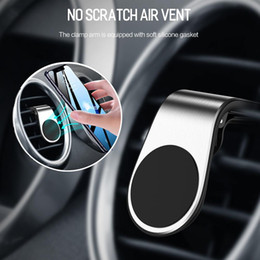air vent magnetic phone holder Australia - Magnetic L-type Air Vent In Car For Iphone Xr Xs X Samsung Xiaomi Mobile Phone Holder Stand Lowest pricelow price