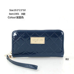 Red Light Card Australia - 2019 new ladies fashion personality long zipper solid color light plastic wallet card package clutch bag