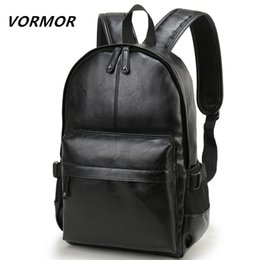 Brand Book Australia - VORMOR Brand Men Backpack Leather School Backpack Bag Fashion Waterproof Travel Bag Casual Leather Book bag Male